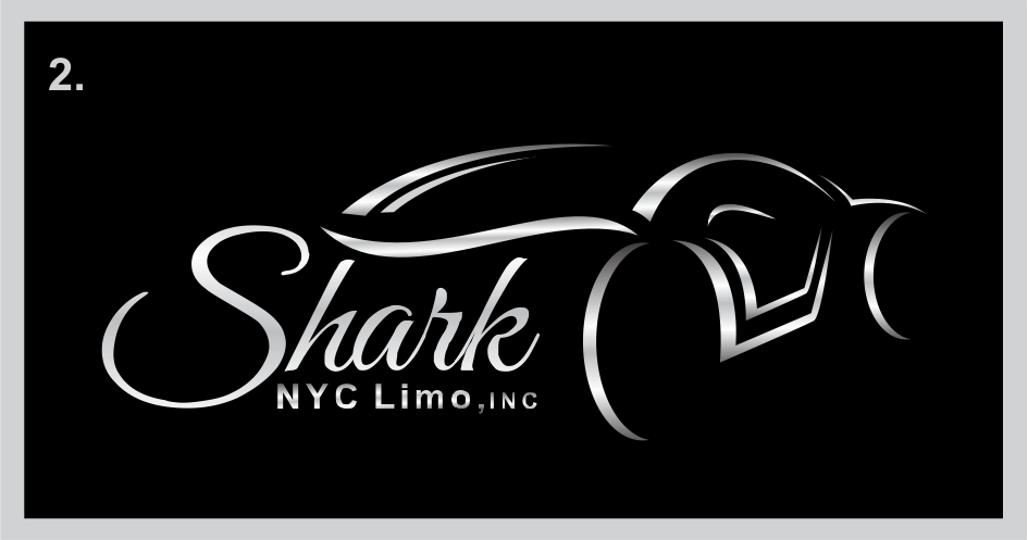 Elegant Serious It Company Logo Design For Shark Nyc Limo Inc By