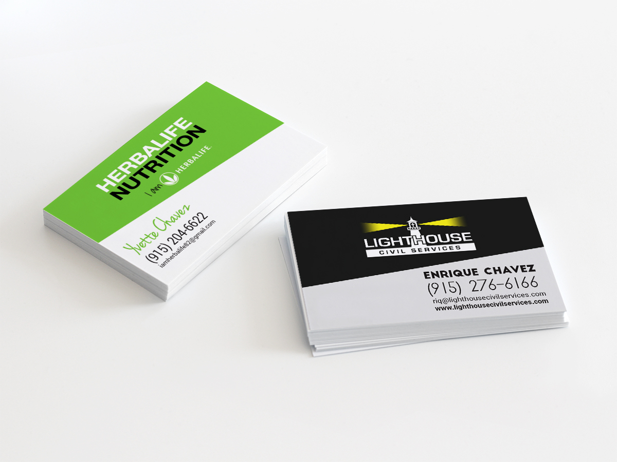 Modern, Bold Business Card Design for Yvette Chavez by LR Design ...