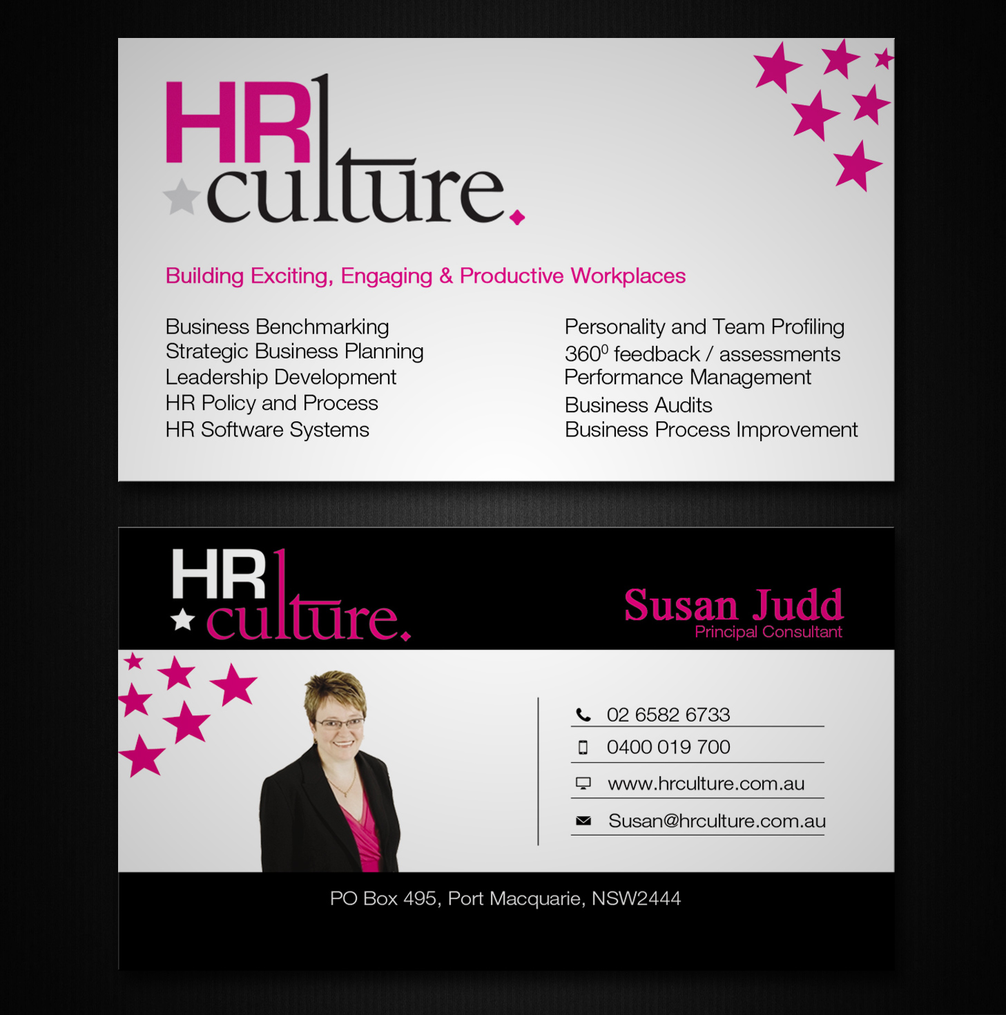 Fett modern business card design for hr culture by lanka for Business design consultant