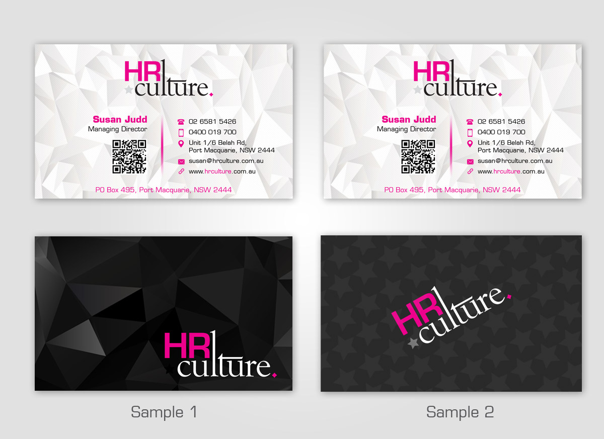 Bold modern business business card design for hr culture by bold modern business business card design for hr culture in australia design 5889094 reheart Choice Image