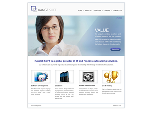 Web Design by webzersolutions - Web-site for software development company