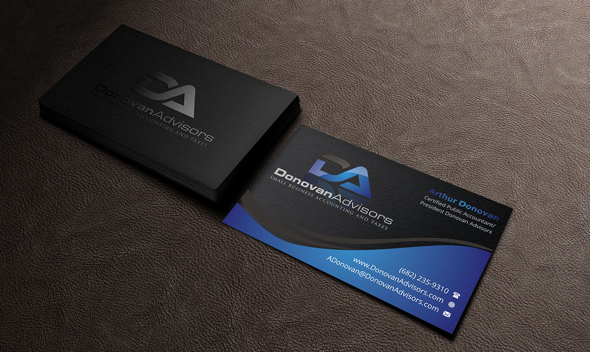 80 Modern Business Card Designs Accounting Business Card Design