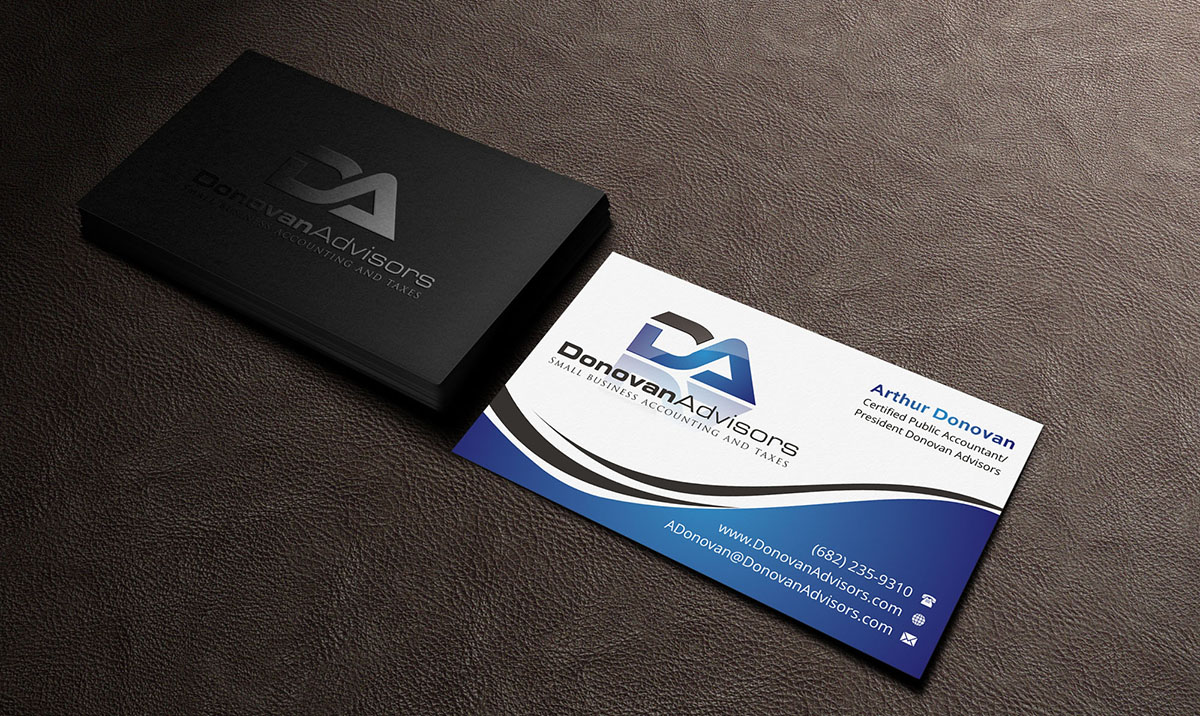 Modern professional accounting business card design for a company business card design by indianashok for this project design 5902614 reheart Images
