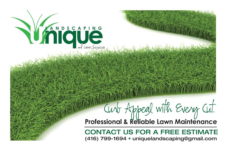 Colorful economical flyer design for unique landscaping for Lawn maintenance companies