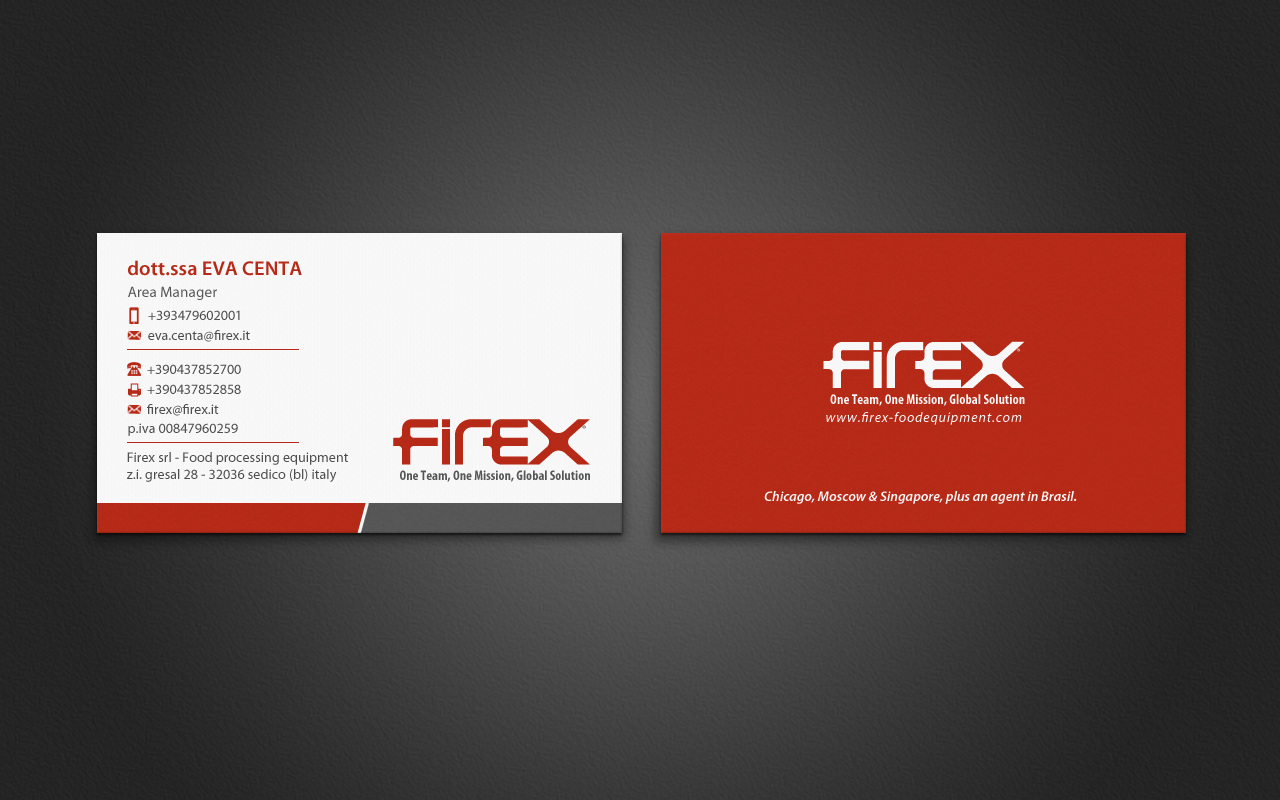 Business Card Design By Pixelfountain For Italian Food Processing Equipment Manufacturer Ing Worldwide Look A