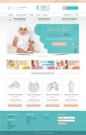 Web Design by Chikki - Upscale Children's Boutique Needs a PSD Web Design