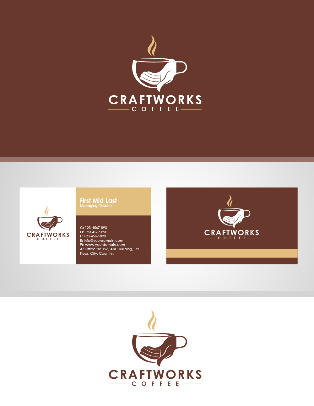 it company logo design for craftworks coffee by moustache graphics
