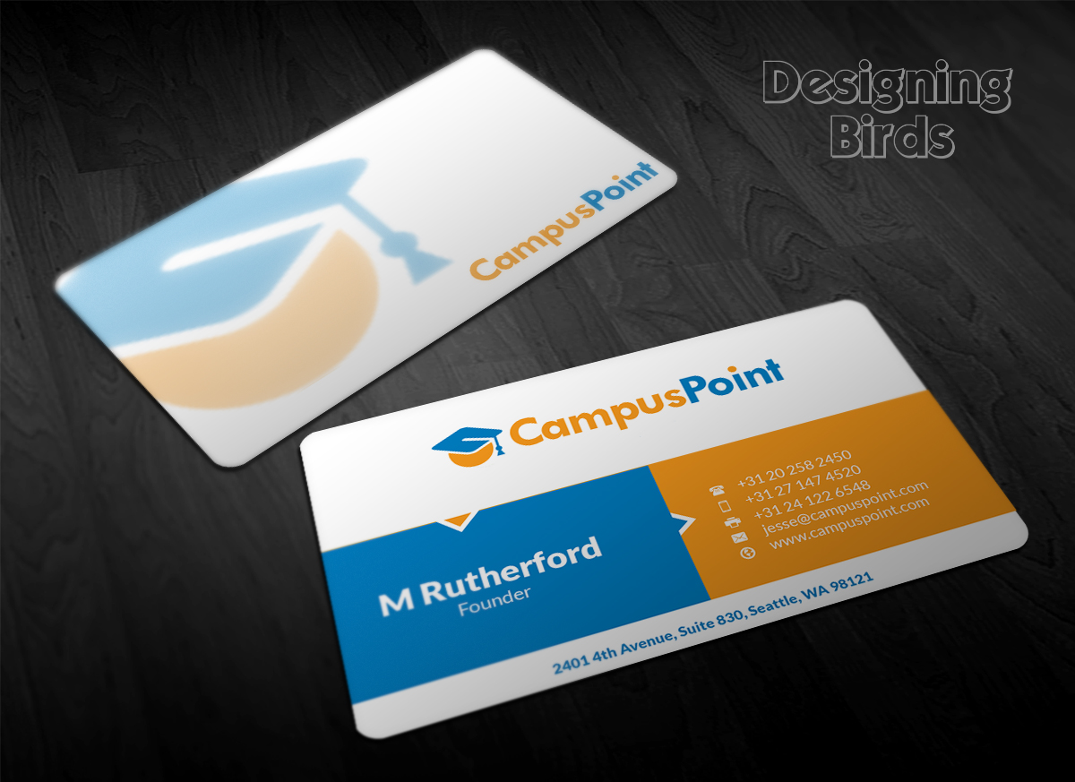 Bold modern business card design by designing birds for Business cards for recent graduates