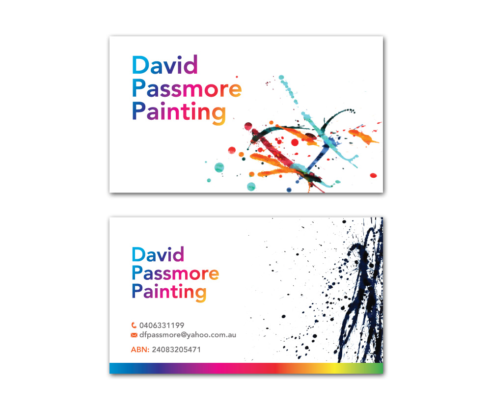 House Painter Business Card Viewing Gallery