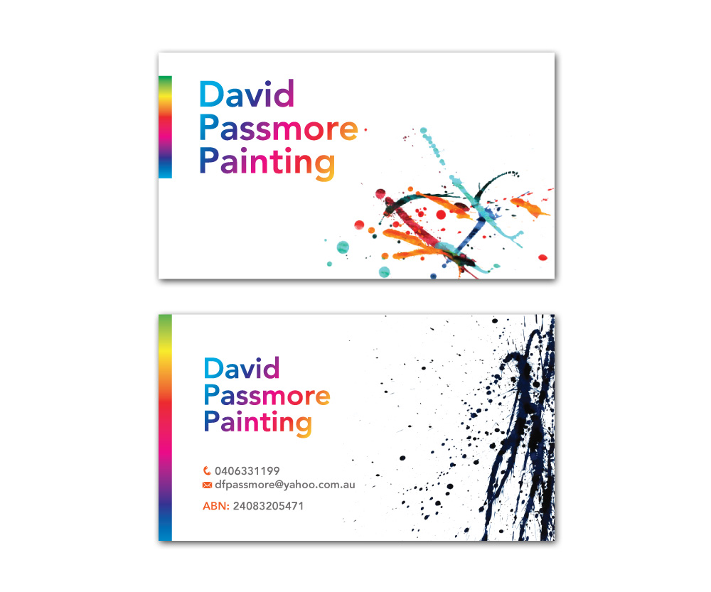 Unique House Painting Business Cards Inspiration - Business Card ...