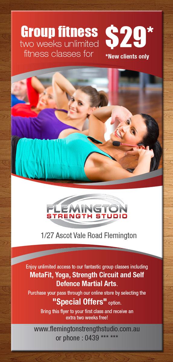 Modern Professional Boutique Flyer Design For Flemington Strength