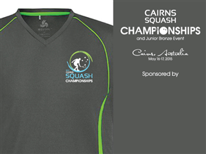 T-shirt Design by Tammy Moore - Cairns Squash Club Championships