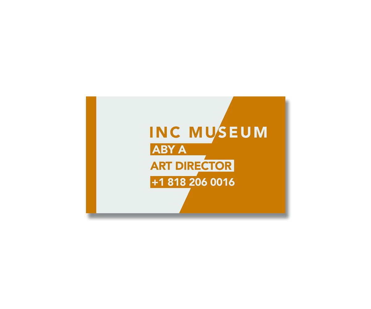 37 Modern Business Card Designs   Museum Business Card Design ...