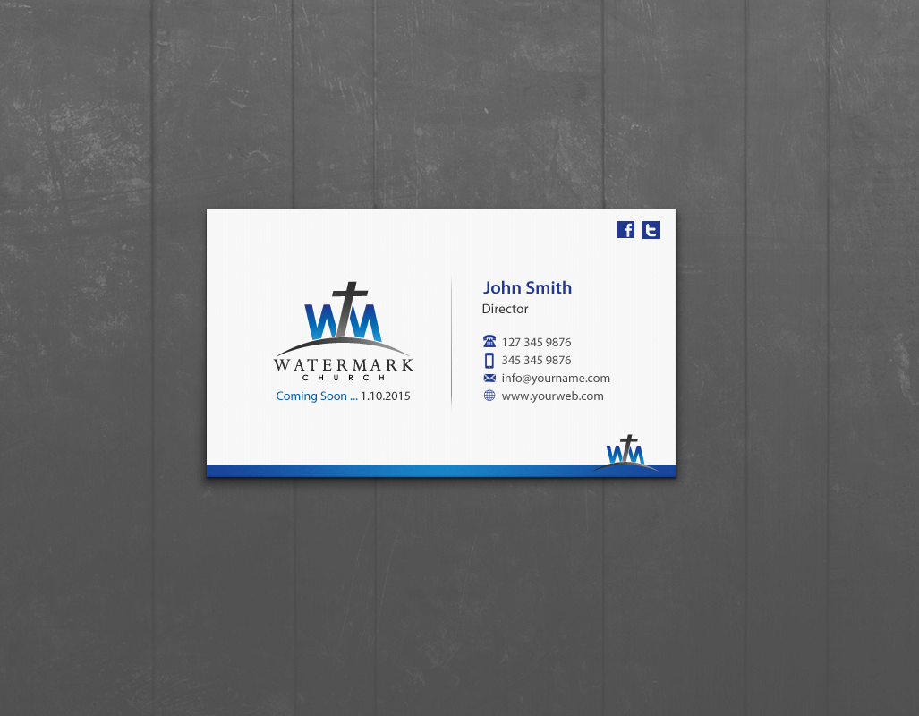 Modern personable church business card design for the watermark business card design by pixelfountain for the watermark church design 5956149 colourmoves