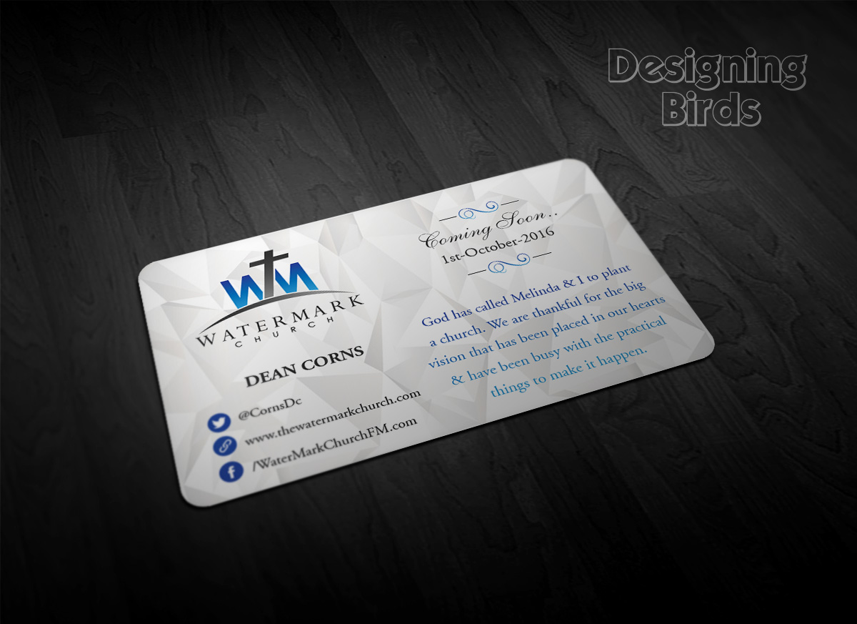 Modern personable business card design for the watermark church by business card design by pointless pixels india for the watermark church design 5956090 colourmoves Images