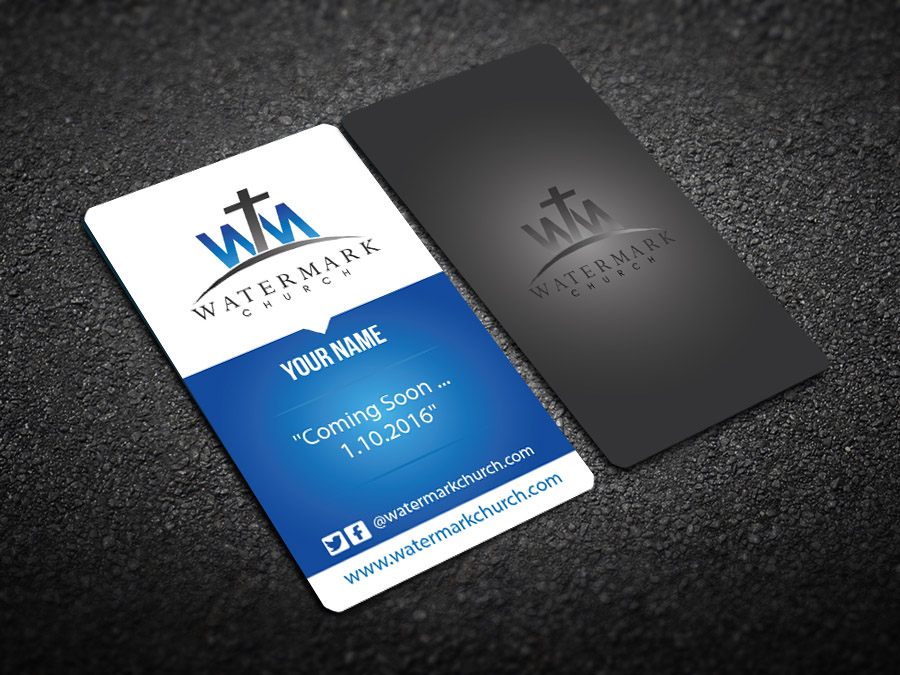 Modern personable church business card design for the watermark business card design by snowymasterdesigns for the watermark church design 5984977 colourmoves