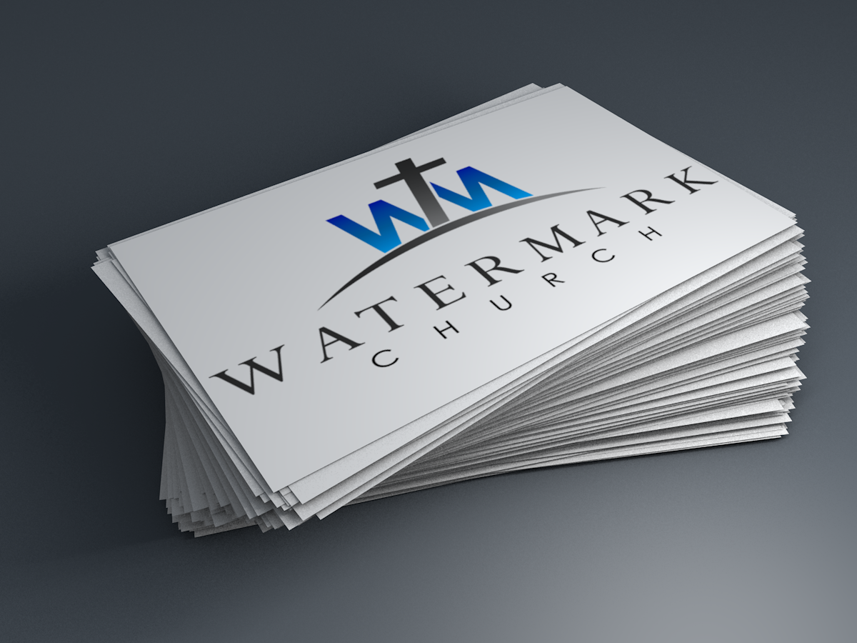 Modern personable church business card design for the watermark business card design by incursus for the watermark church design 5974310 colourmoves