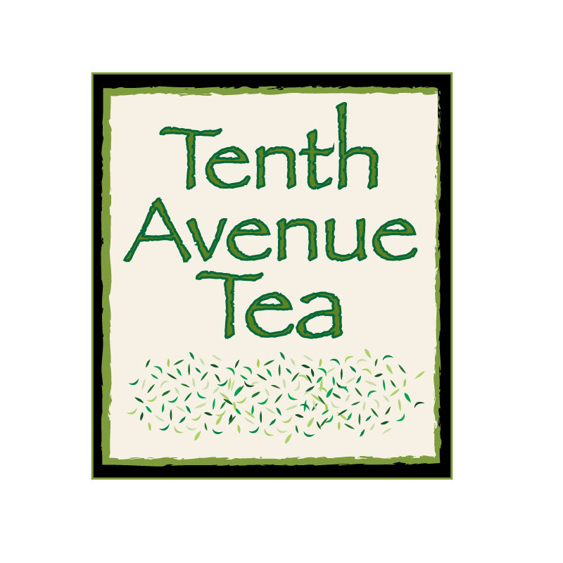 Modern bold it company logo design for tenth avenue tea for Tenth avenue north t shirts