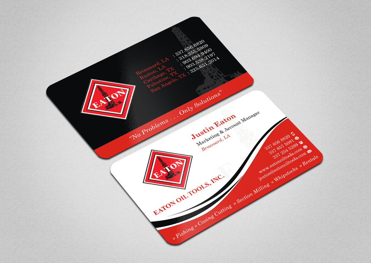 Professional, Masculine Business Card Design for Eaton Oil Tools ...