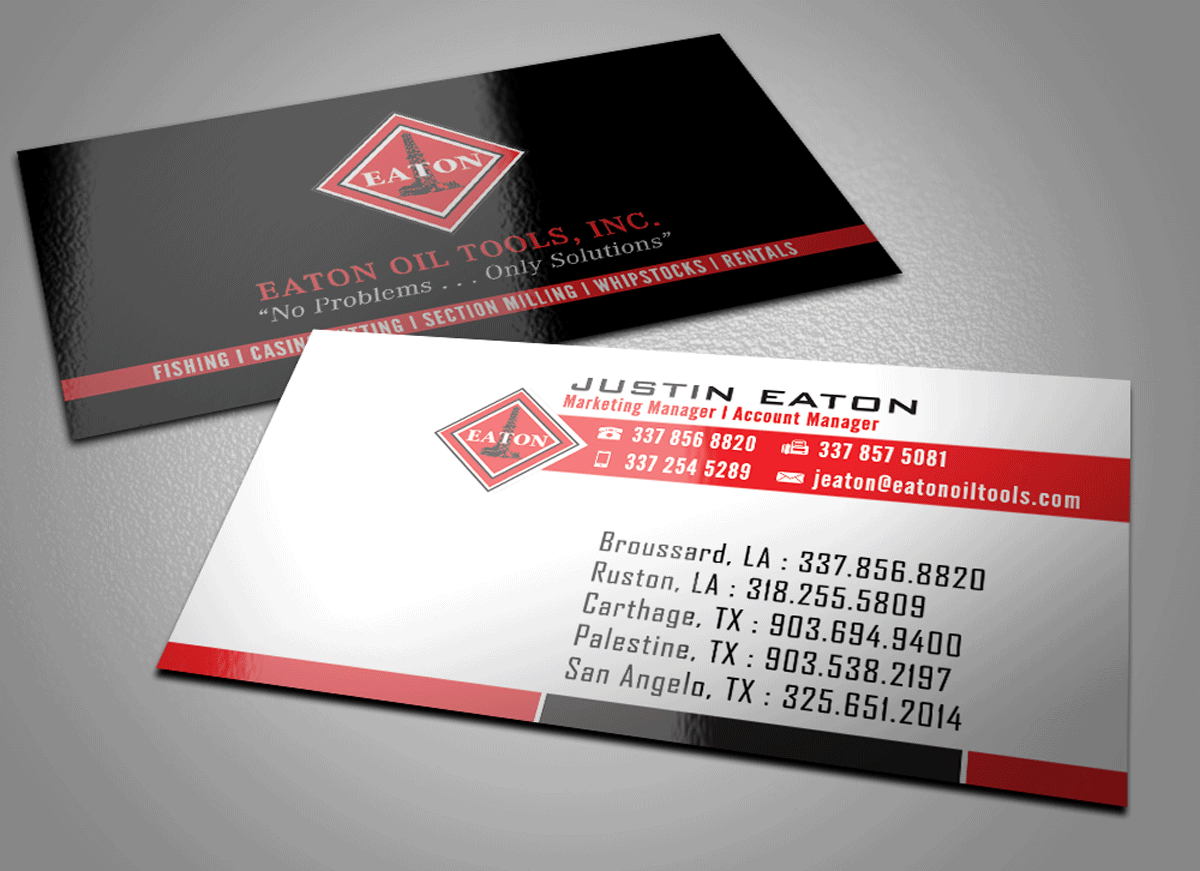 Professional, Masculine, Business Business Card Design for Eaton Oil ...
