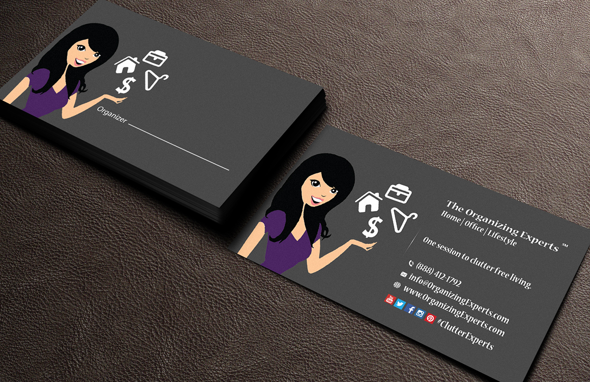 66 feminine business card designs business business card design business card design by mediaproductionart for the organizing experts design 5999478 colourmoves