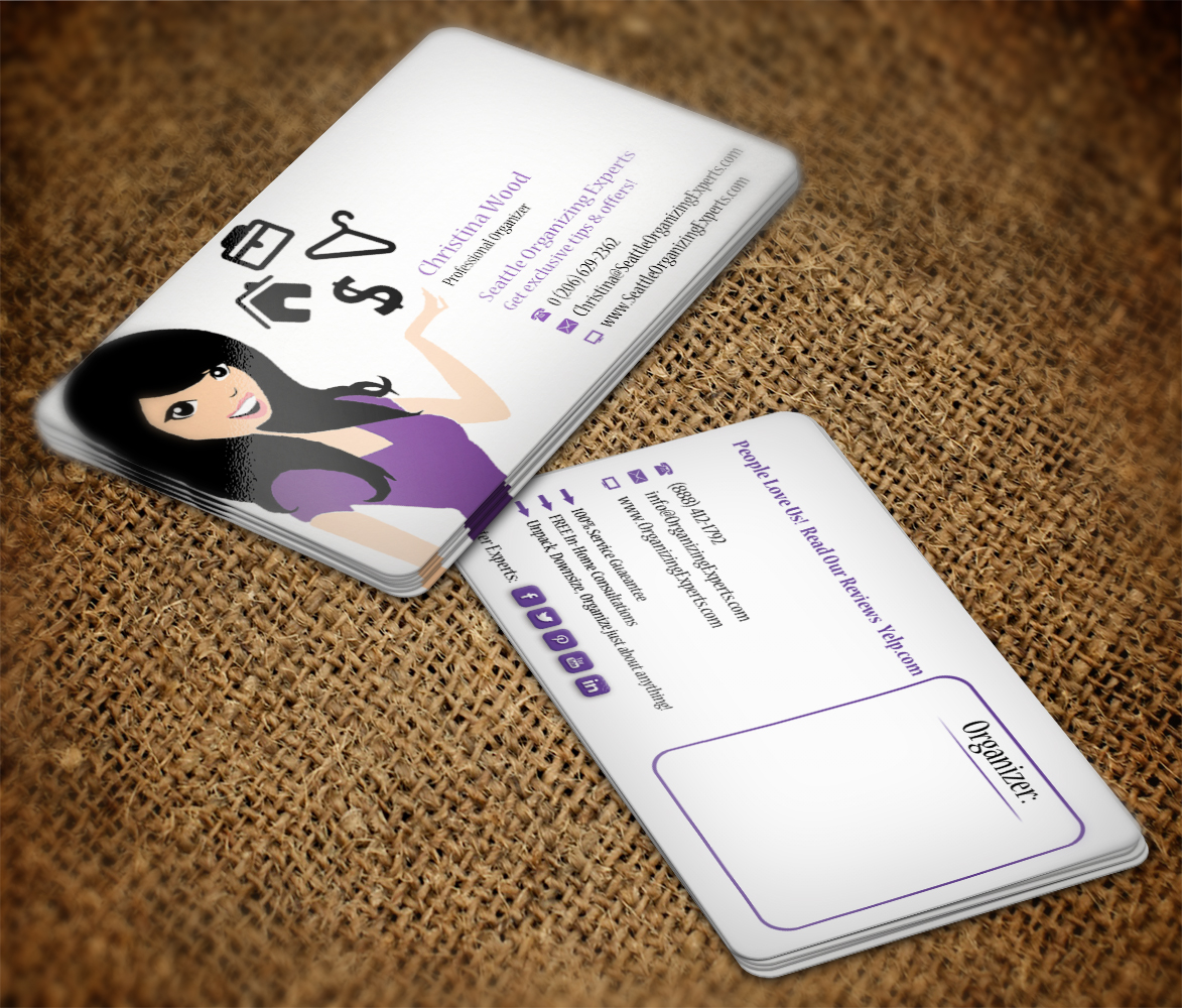 Feminine, Modern, Business Business Card Design for The Organizing ...