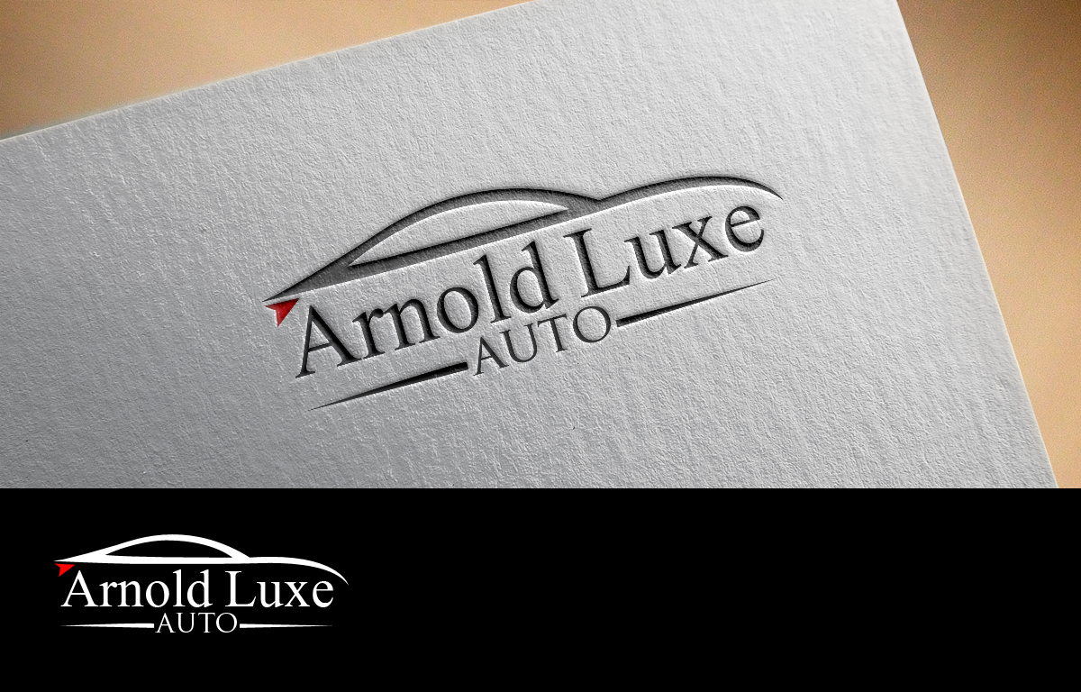 Upmarket Professional Used Car Logo Design For Arnold Luxe Auto By