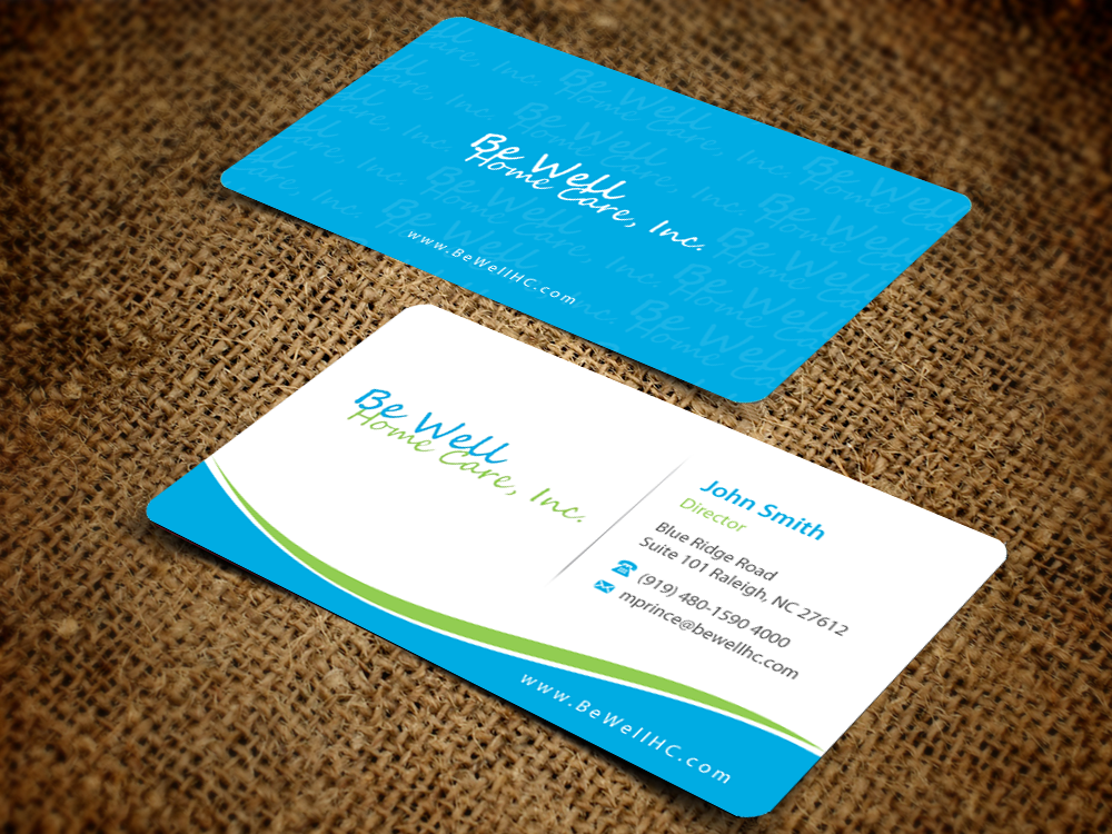 Bold, Playful, Business Business Card Design for Be Well Home Care ...