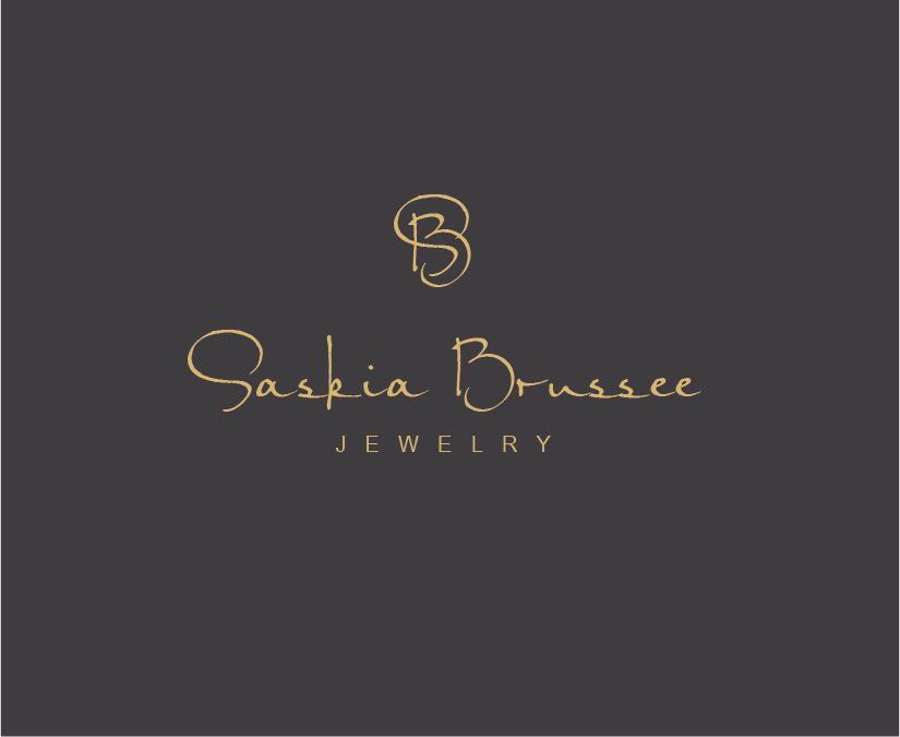 elegant modern logo design for saskia brussee by birdcage