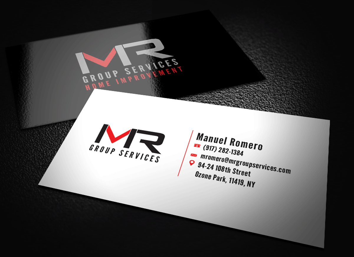 Elegant playful business card design for mr group services by riz business card design by riz for construction company business card design 5972110 colourmoves
