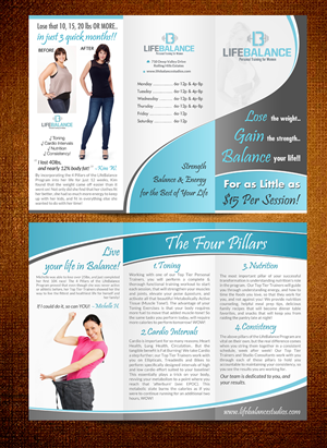 Flyer Design by debdesign - High End, Contemporary Fitness Boutique 3 Panel ...