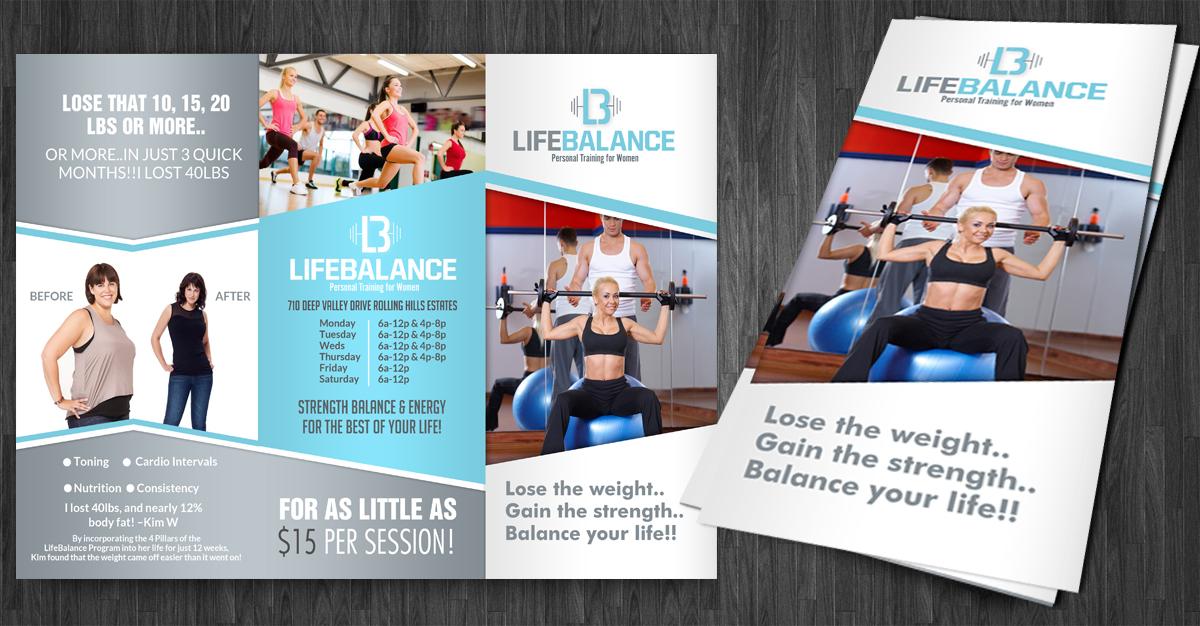 Upmarket Elegant Flyer Design for LifeBalance Studios LLC by – Contemporary Flyer