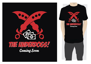 T-shirt Design job – UnderDogs T-Shirt Design – Winning design by ReigeDesign