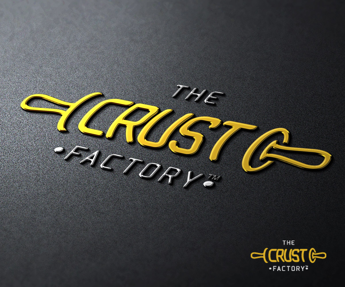 Elegant Playful Logo Design For The Crust Factory By Goh