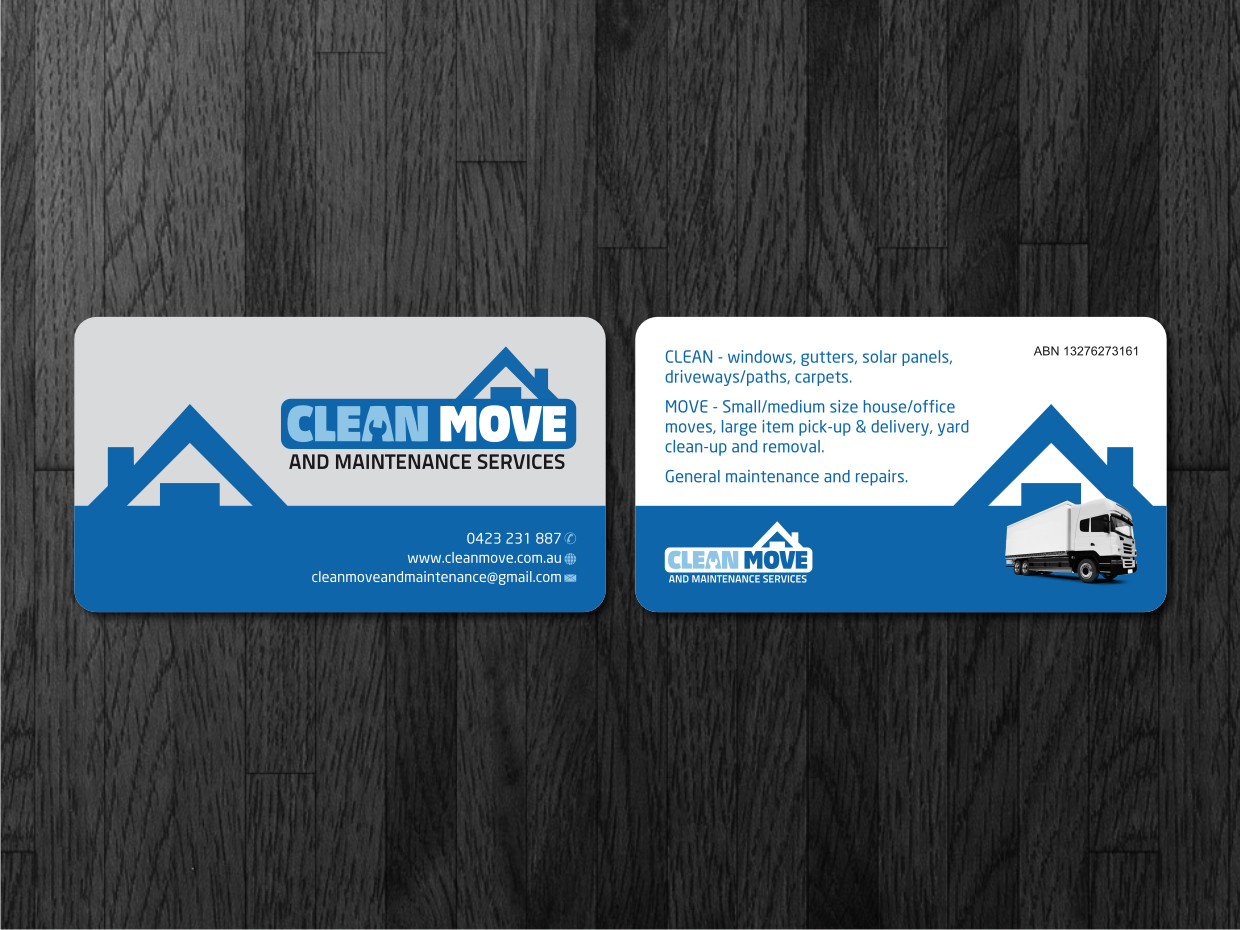 Business card design for steve hilton by atvento graphics design business card design by atvento graphics for clean move maintenance services are a company magicingreecefo Gallery