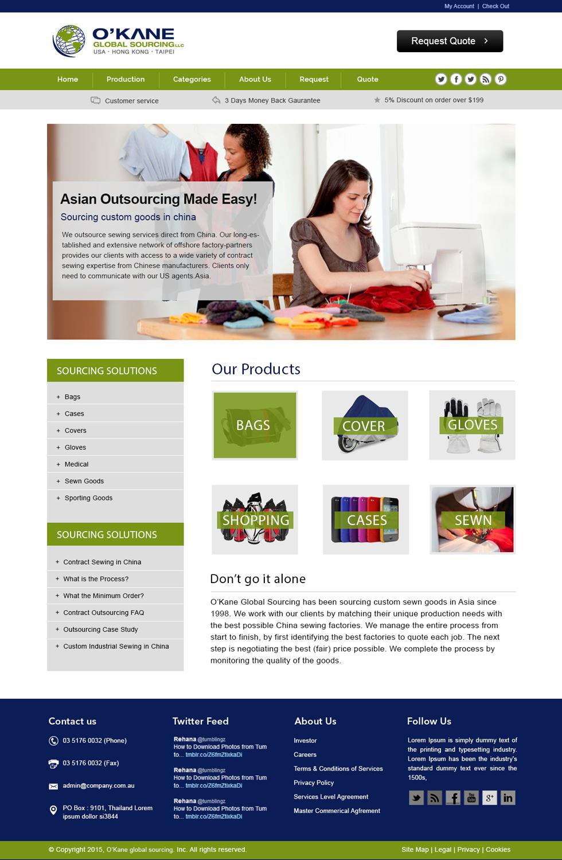 Modern masculine web design for brooks o 39 39 kane by for Masculine web design
