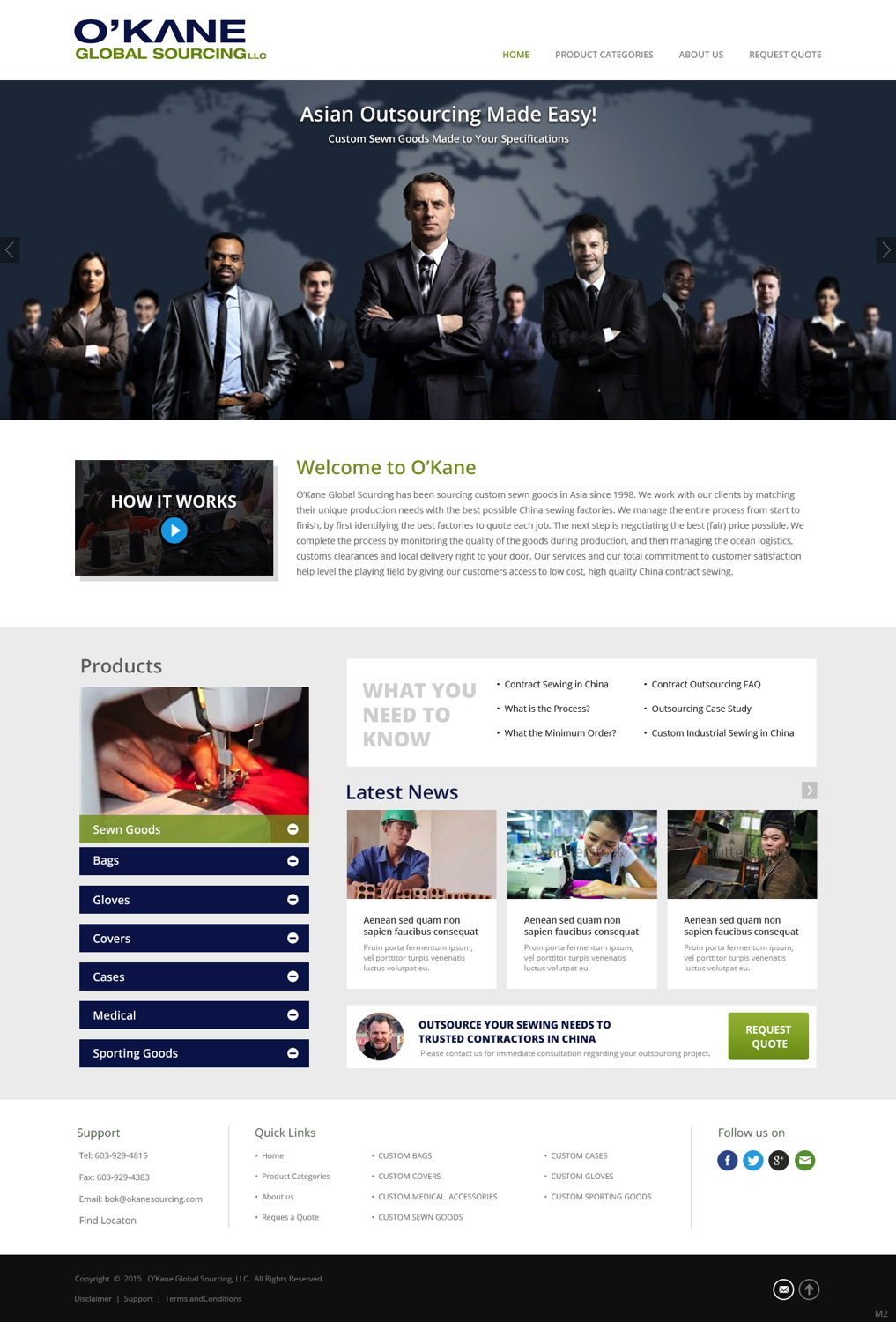 Modern masculine web design for a company by pb design for Masculine web design