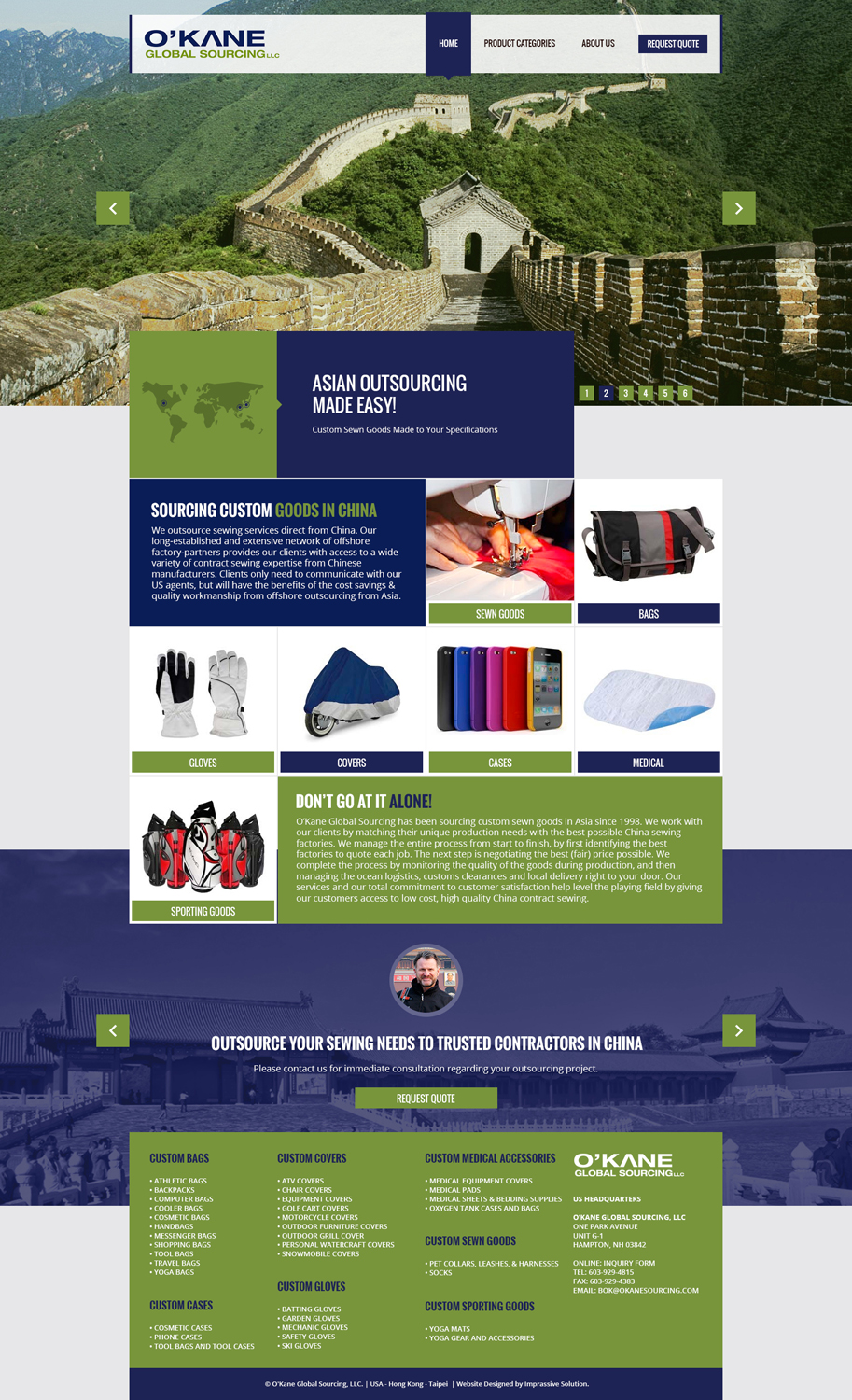 Modern masculine web design for a company by black for Masculine web design