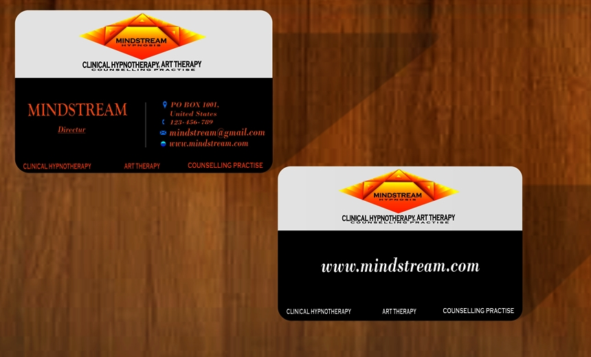 Professional Serious Hypnotherapy Business Card Design For