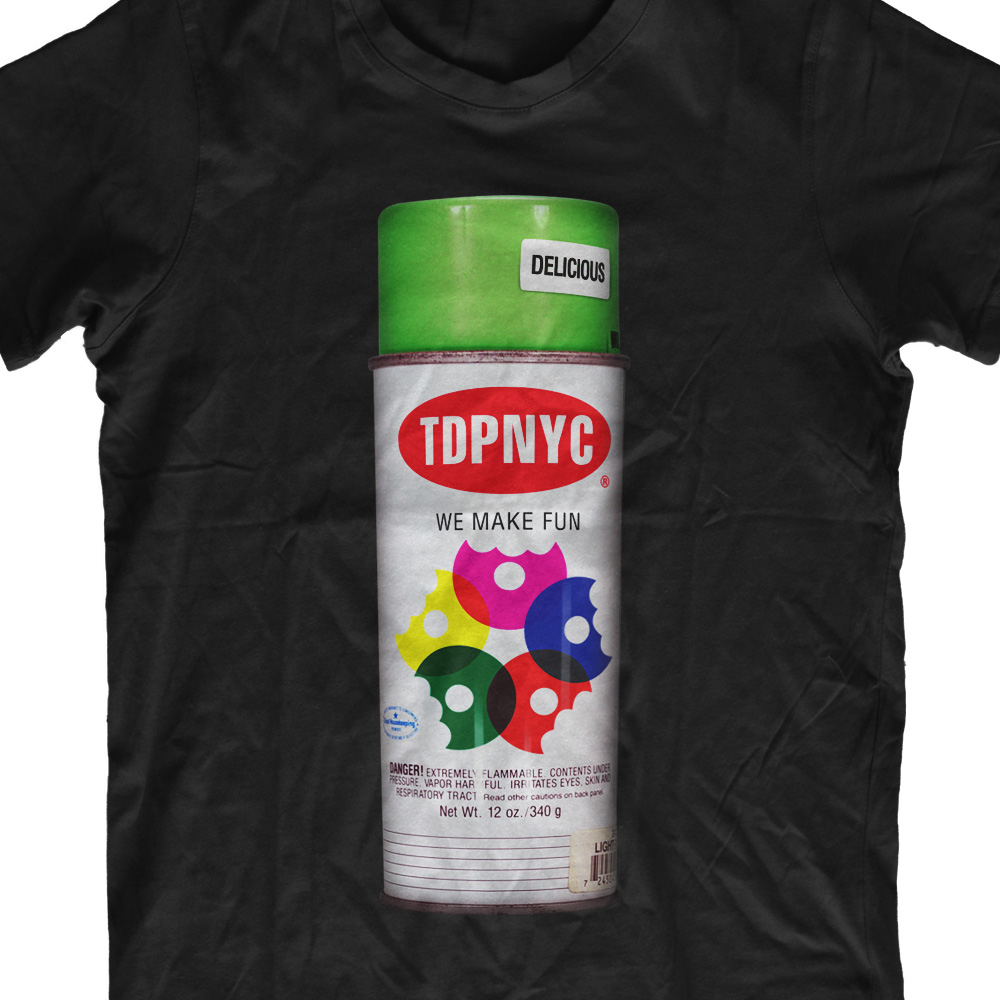Playful Bold Paint T Shirt Design For The Doughnut Project By