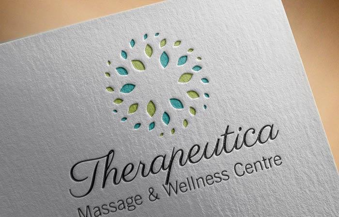 Elegant, Upmarket, Clinic Logo Design for Therapeutica Massage