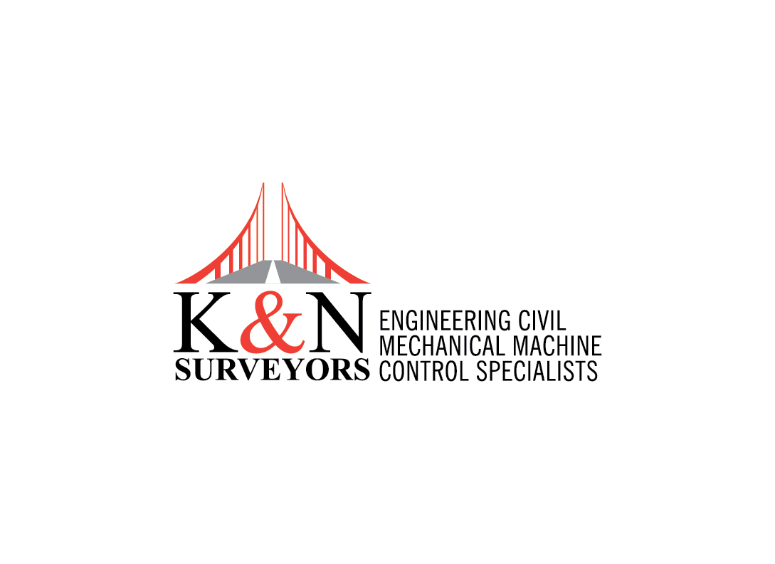 bold  modern  progressive logo design for k u0026n surveyors