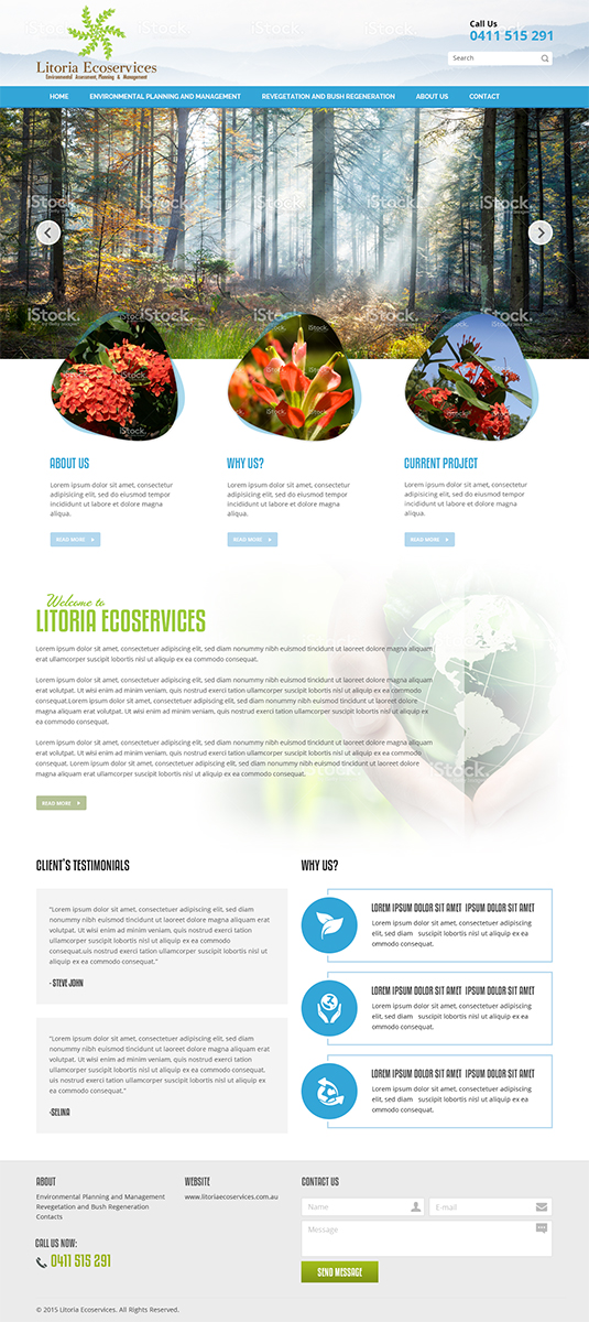 Serious masculine business web design for a company by for Masculine web design