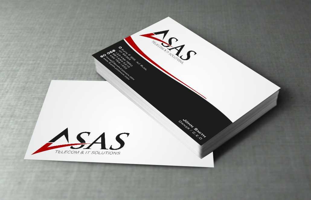 115 Serious Business Card Designs | Telecommunications Business Card ...