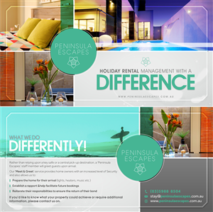 Flyer Design by Theziners - Holiday Rental Company Flyer Design (DL not A5)
