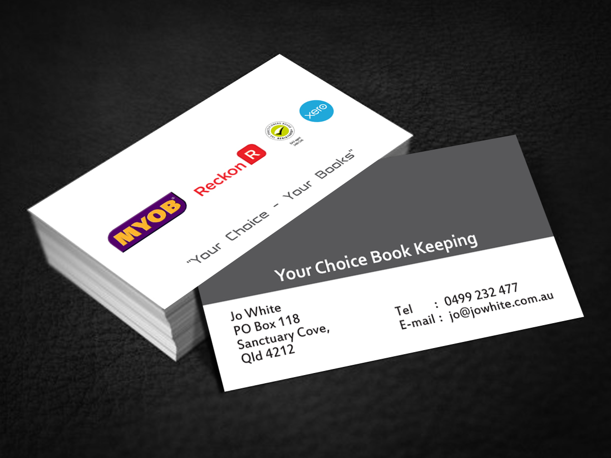 Elegant modern business card design for your choice bookkeeping business card design by cn graphic for your choice bookkeeping business cards design 6030682 magicingreecefo Choice Image