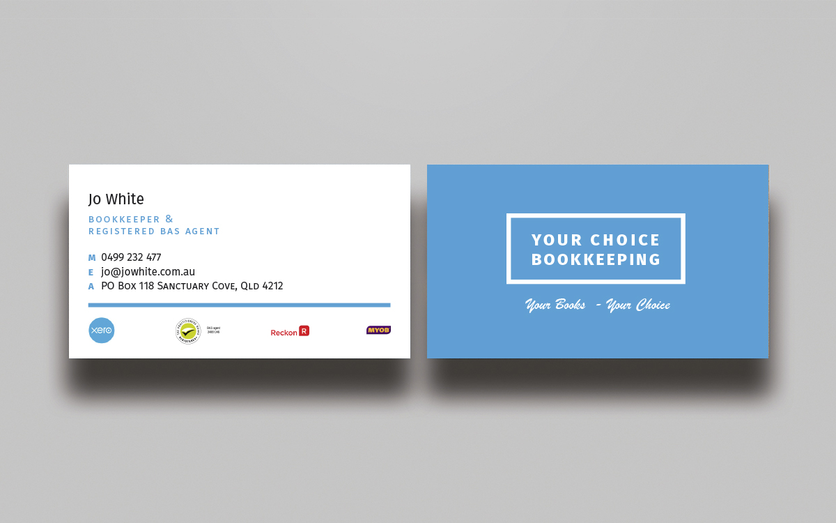 Elegant, Modern Business Card Design for Your Choice Bookkeeping ...