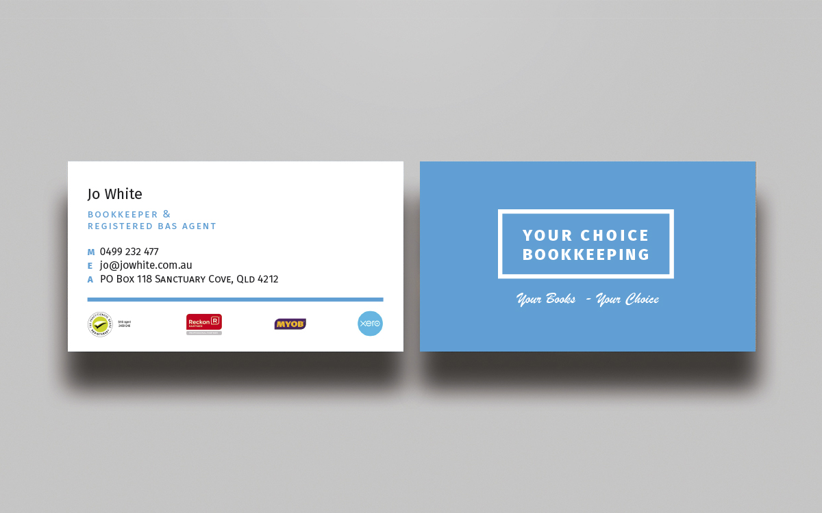 elegant modern business card design for your choice bookkeeping