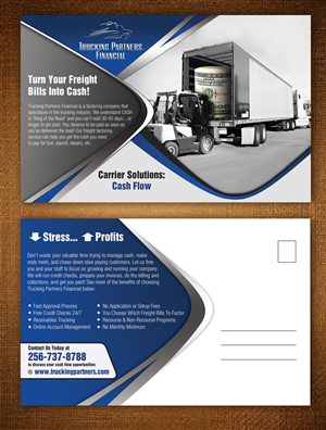 Postcard Design by ESolz Technologies - Trucking Partners Financial -- Post Card Design
