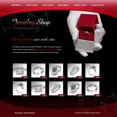 Conservative, Upmarket, Jewelry Web Design for lovestoned by Webman